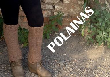 Polainas de tricot em lã de alpaca